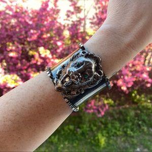 RARE // Sorrelli // Lion Gun Metal Cuff Bracelet